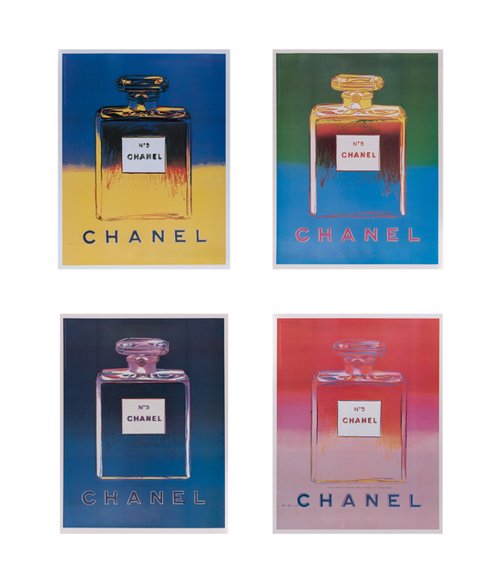 Andy Warhol, 'Chanel No. 5 Suite', 1997, Print, Set Of Four Offset Lithographs Laid To Canvas, Doyle