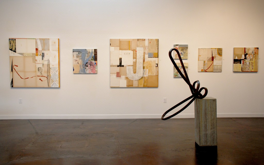 Paintings by artist Mark Eanes and sculpture by artist Roger Berry
