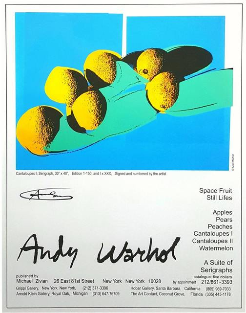 Andy Warhol, ''Space Fruits: Still Life' Exhibition Poster (Cantaloupes I)', 1979, Artsnap