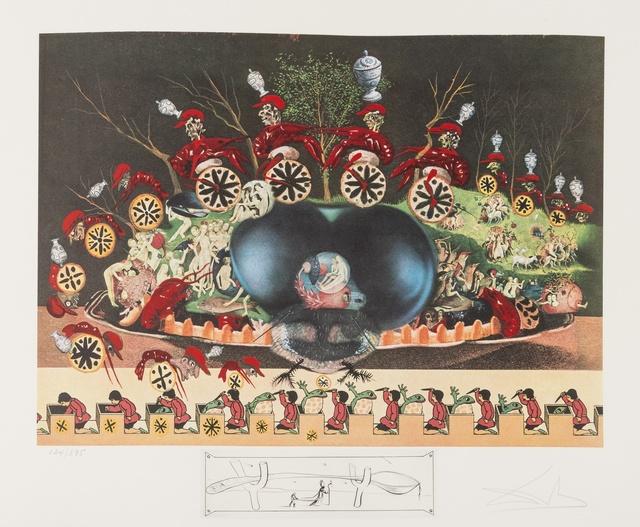 Salvador Dalí, 'Les Diners de Gala. Les Montres Molles demi Sommeil (Field 77-5.L)', 1975, Print, Lithograph printed in colours with engraing remarque, Forum Auctions