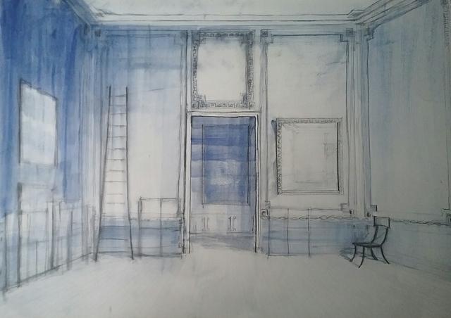 , 'Ladder and Klismoschair,' 2018, Octavia Art Gallery