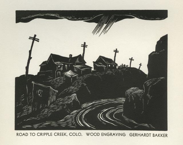 Gerhardt H. Bakker, 'Road to Cripple Creek, Colo.', 1936, David Barnett Gallery