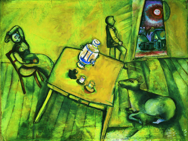 Marc Chagall | La chambre jaune(The Yellow Room) (1911 ... Chagall Crucifixion In Yellow