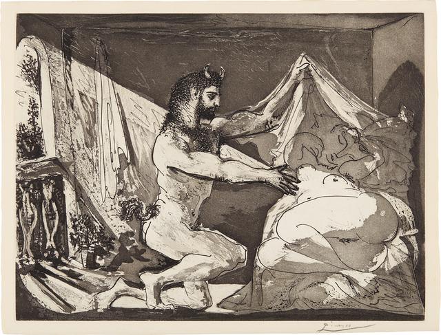 Pablo Picasso, 'Faune dévoilant une femme (Faun Revealing a Woman), plate 27, from La Suite Vollard', 1936, Phillips
