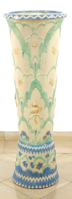 Otto Prutscher, 'Rare Floor Vase with Flowers, Butterflies and Birds', Galerie Bei Der Albertina Zetter