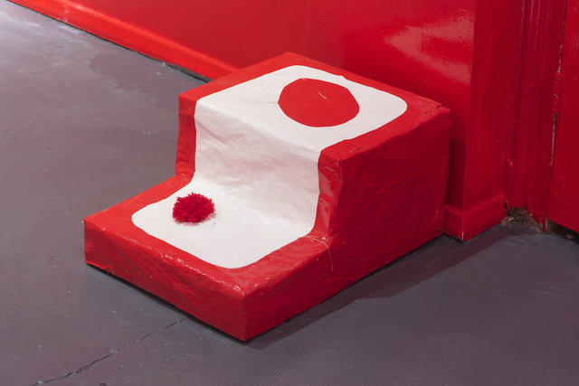 Allegra Pacheco, 'Small Red Stairs', 2015, Sculpture, Papier mâché, paper, wood, and oil based paint, LAMB Arts