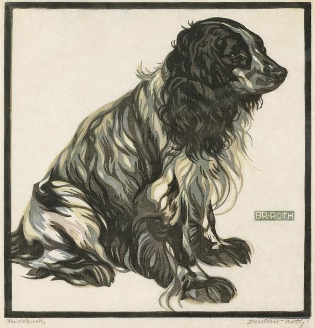 , 'Spaniel II,' 1923, Galerie Bei Der Albertina Zetter