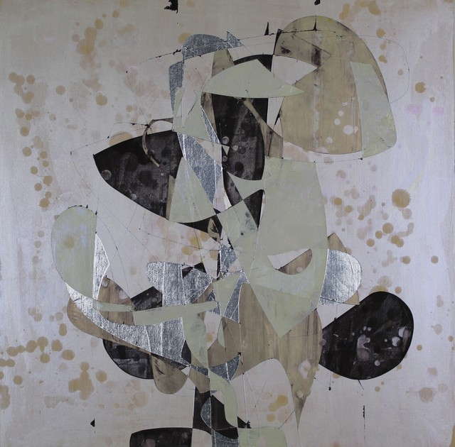 Jim Napierala, 'Sam Therapy', 2015, Painting, Flashe, aluminum leaf and acrylic on wood panel, Susan Eley Fine Art