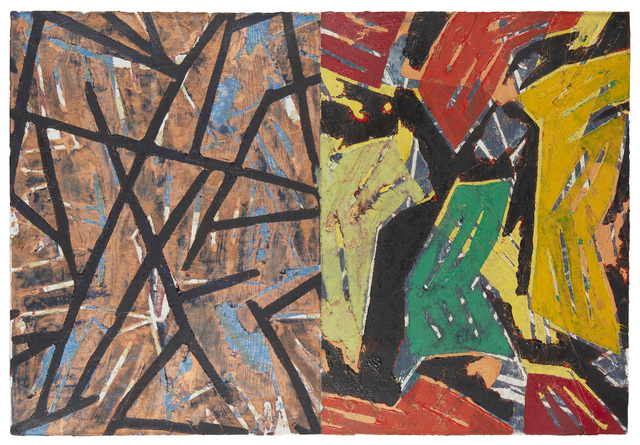 Charles Arnoldi, 'Untitled', 1988, Painting, Oil and acrylic on rag paper, John Moran Auctioneers