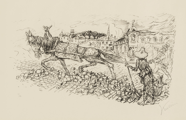 , 'Street Scene,' 1923, Galerie St. Etienne
