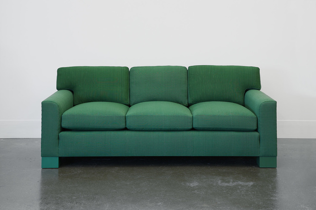 , 'Domestic Sofa in Handwoven Green Fabric,' 1989-2014, Lora Reynolds Gallery