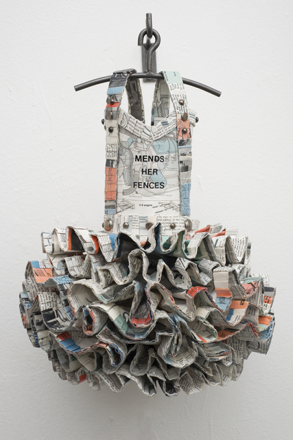 , 'Dress Quilt: Mends Her Fences,' 2013, Jean Albano Gallery