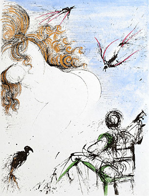 Salvador Dalí, 'Woman with Parrot', 1967, Galerie d'Orsay