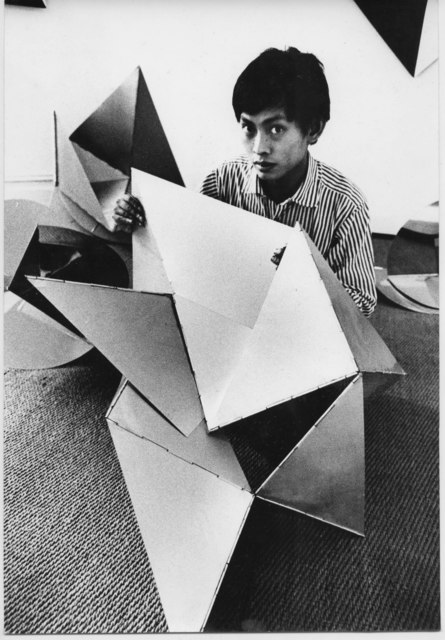 , 'David Medalla with Lygia Clark sculpture, Signals Gallery, London,' , England & Co