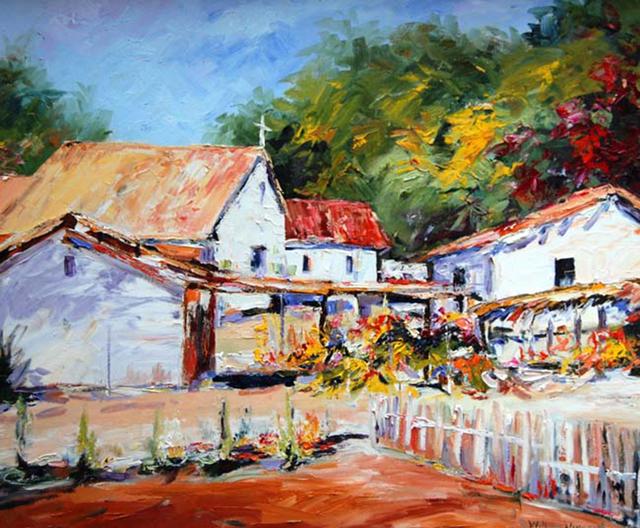 William Vincent Kirkpatrick, 'Mexican Village', Baterbys Art Gallery