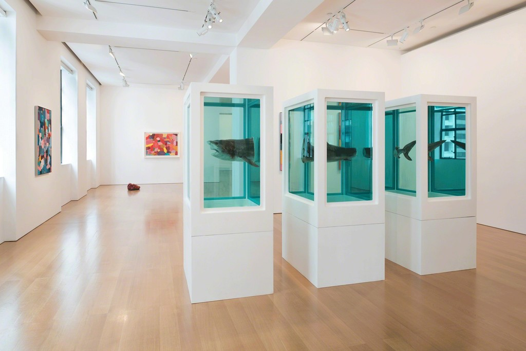 "Installation view, ""DAMIEN HIRST: Visual Candy and Natural History"" at Gagosian Hong Kong, November 23, 2017 to January 13, 2018. Courtesy Gagosian. Artworks © Damien Hirst and Science Ltd. All rights reserved. DACS 2017"