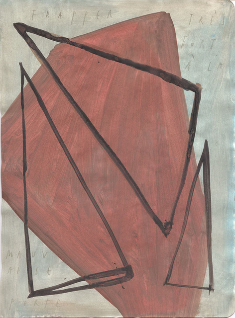 Arpaïs Du Bois, 'frapper très fort à la mauvaise porte ', 2020, Drawing, Collage or other Work on Paper, Mixed media on paper, GALLERY FIFTY ONE