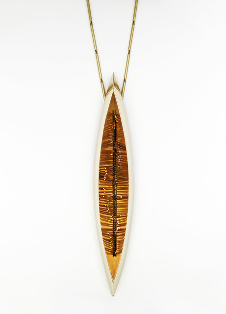 , 'Large gold pendant with kinetic filaments,' 1968, Didier Ltd.