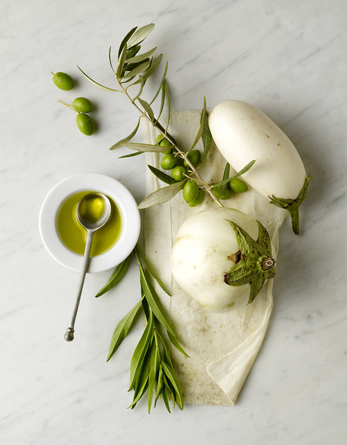 , 'Still Life of White Eggplants and Olive Oil,' , Beth Urdang Gallery