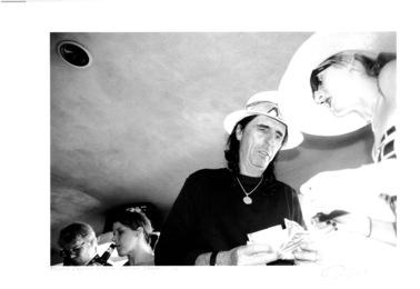 Phillip Seymour Hoffman and Alice Cooper