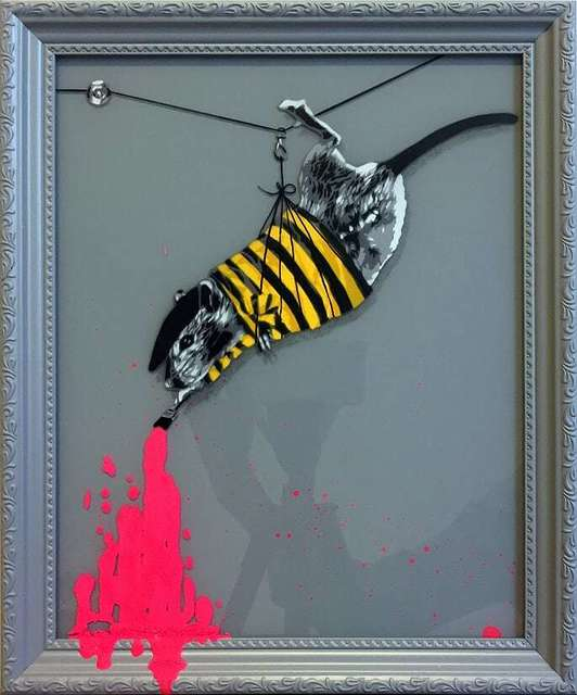 , 'Rat painting Pink (neon),' 2018, NextStreet Gallery