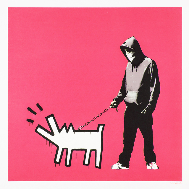 Banksy, 'Choose Your Weapon (Bright Pink)', 2010, Oliver Clatworthy