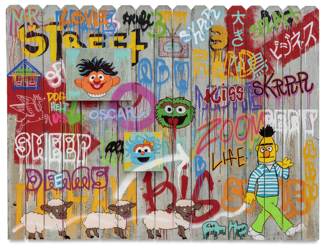 , 'Acrylic on Fence,' 2016, De Re Gallery