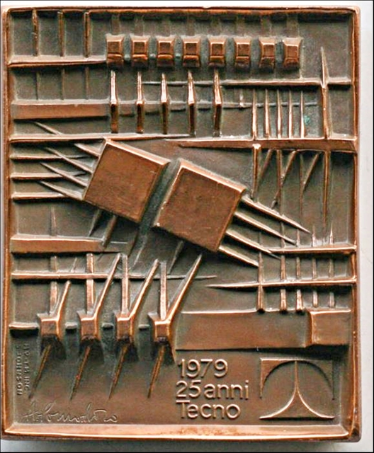, 'MEDAGLIA 25 ANNI TECNO  (Two Sided Bronze Medallion),' 1979, Alpha 137 Gallery