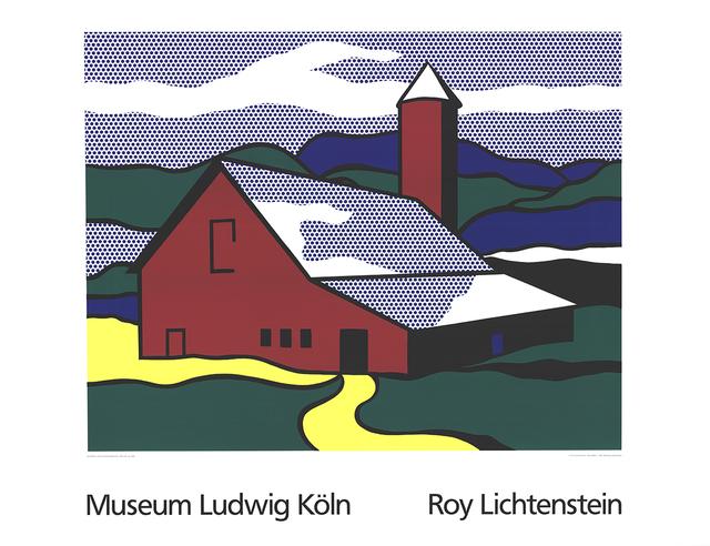 Roy Lichtenstein, 'Red Barn II (Lg)', 1989, Ephemera or Merchandise, Serigraph, ArtWise