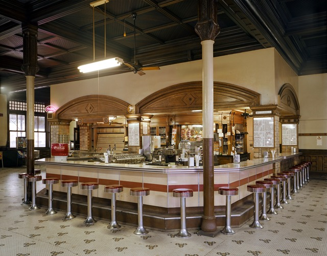 Jim Dow, 'Lunch Counter at Union Depot Railroad Station, Pueblo, Colorado', 1981, Robert Klein Gallery