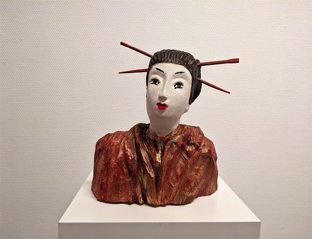 Christiane Erdmann, 'Geisha', 2015, Sculpture, Wood coloured, Bode Gallery