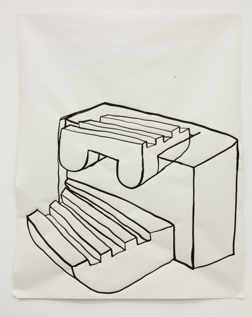 Jen Aitken, 'Untitled Drawing no.36', 2013, Drawing, Collage or other Work on Paper, Ink on paper, Battat Contemporary