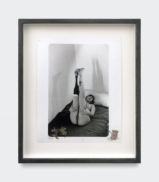 Kingsley Ifill, 'Untitled', 2019, Photography, Artist made gelatin silver print and stickers In handmade transparent black ash wood frame with Ultravue glass, V1 Gallery