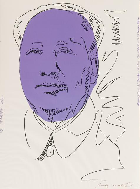 Andy Warhol, 'Mao', 1974, Print, Screenprint in purple and black on wallpaper, Skinner