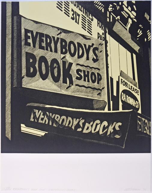 Robert Cottingham, 'Everybody's Bookshop', 1975, Print, Lithograph, Hans den Hollander Prints