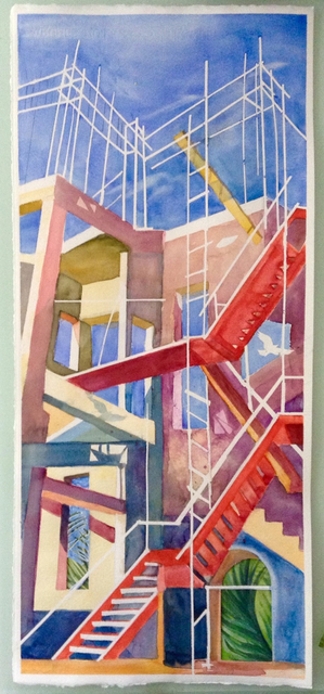 Claire Lambe, 'Red Stairs', 2016, Cross Contemporary Partners