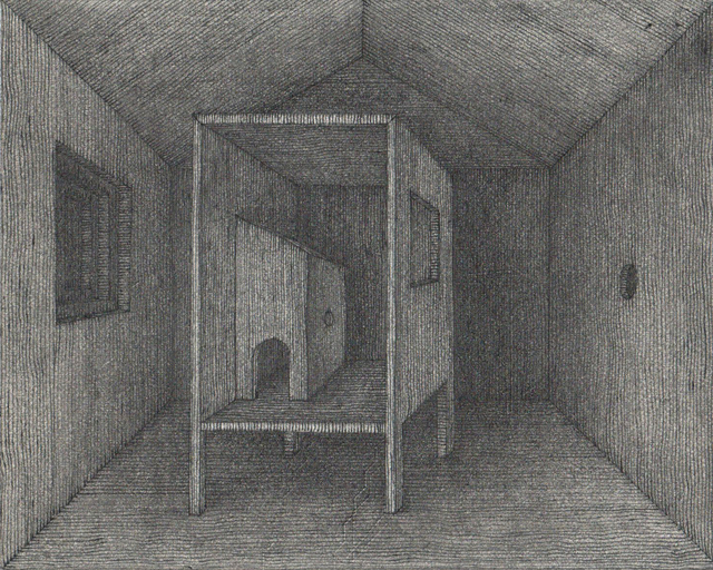 Hong Buhm, 'unnamed room #1', 2014, Drawing, Collage or other Work on Paper, Pencil, pen, ink, etching paper, Gallery SoSo