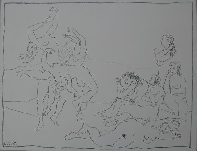 Pablo Picasso, 'Dances', 13.2.1954, Galerie Fetzer