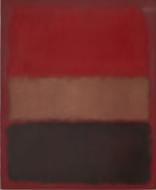 , 'No. 46 (Black, Ochre, Red Over Red),' 1957, Fondation Louis Vuitton