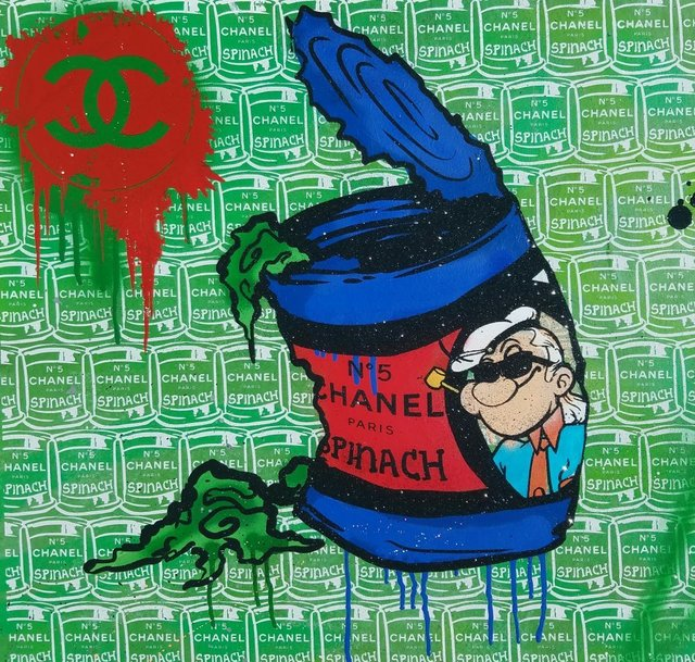 , 'Chanel Karl Popeye Green Blue,' 2016, Avant Gallery