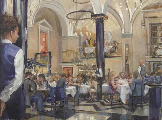 , 'The Long Lunch II,' 2017, Portland Gallery