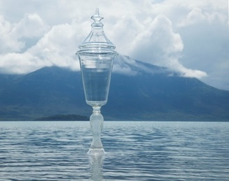 """Chalice and Tanalian Mountain (II) (from """"Alone and the Wilderness"""")"""