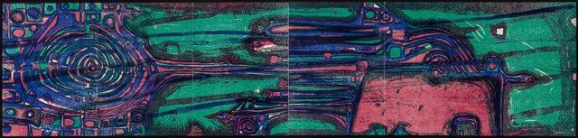 Friedensreich Hundertwasser, 'Flight of the Dali Lama', 1959, Heritage Auctions