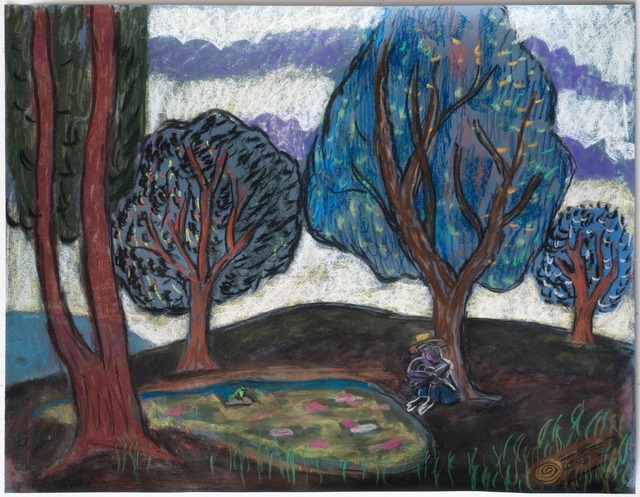 , 'Man Sitting by Pond,' 2017, Galerie Ceysson & Bénétière