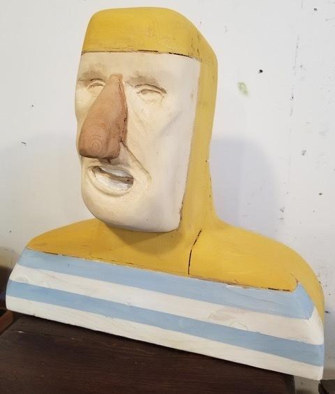 Matthew Dennison, 'Inderstein', 2020, Sculpture, Cedar, wood, milk paint, The Secret Gallery