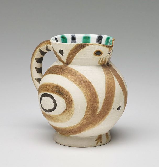 Pablo Picasso, 'Petite Chouette (Little Owl)', 1949, Design/Decorative Art, White earthenware turned pitcher, painted in colours with partial brushed glaze., Phillips