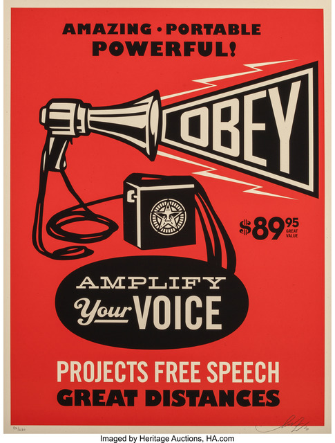 Shepard Fairey (OBEY), 'Obey Megaphone Print', 2010, Heritage Auctions