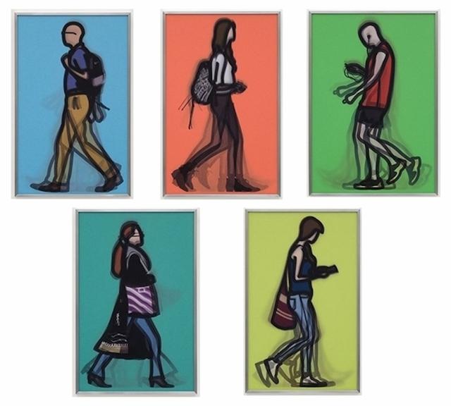 Julian Opie, 'Walking In London 2', 2014, Vertu Fine Art