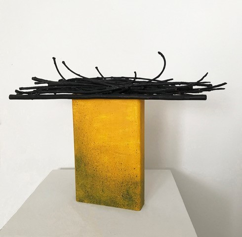 , 'Detritus Monolith Yellow,' 2018, Denise Bibro Fine Art