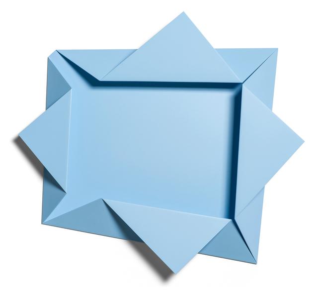 ", 'Light Blue Folded Flat ""Reversed Hat"" 01,' 2016, Häusler Contemporary"